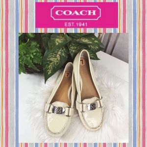 New Coach Cream Loafers Size 7